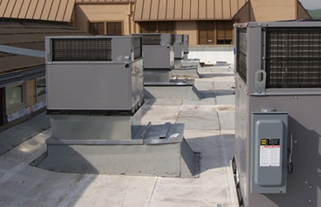 Marine Air installed an HVAC system in a town home in Lake Forest